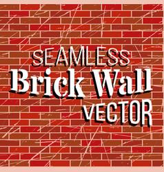 Seamless brick wall pattern vector