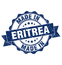 Made in eritrea round seal vector