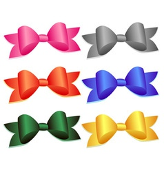 Set of colorful bows vector image