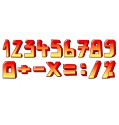 stylized numbers vector image