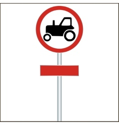 Tractor sign on white - vector