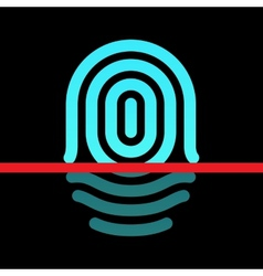 Fingerprint identification system - whorl type vector