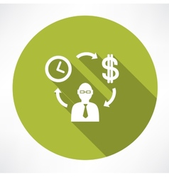 Time exchange to money vector