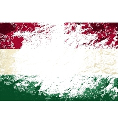 Hungarian flag grunge background vector