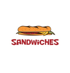 sandwich design template vector image