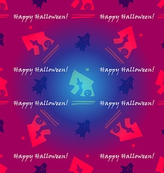 Merry halloween seamless with traditional symbols vector