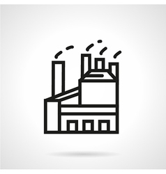 Industrial factory building simple line vector