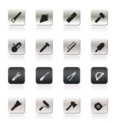Construction and building tools icons vector