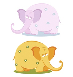 funny pink elephants vector image