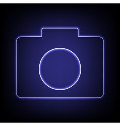 Neon effect icon vector