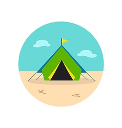 Tent icon summer vacation vector