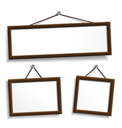 Empty frames for your presentation vector