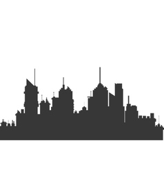 Modern city skyline silhouette icon vector