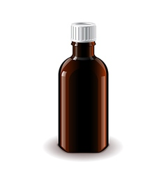 Medical dark glass bottle isolated vector