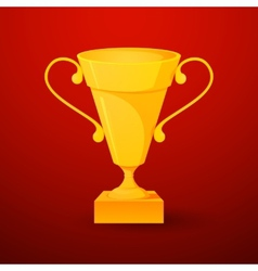 Beautiful cup of winner in realistic style vector image vector image