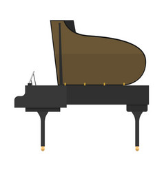 black grand piano isolated vector image