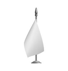 blank vertical small flag streamer mockup vector image