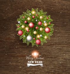 Christmas card with pine branches vector