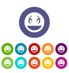 confused emoticon set icons vector image vector image