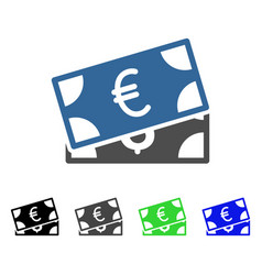 Currency banknotes flat icon vector