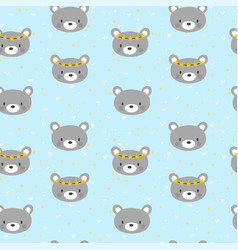cute seamless pattern for little boys with funny vector image vector image