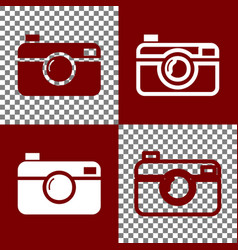 digital photo camera sign bordo and white vector image vector image