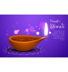 Diwali Holiday background vector image