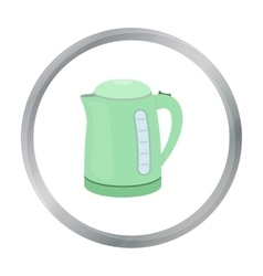 Electrical kettle icon in cartoon style isolated vector