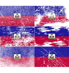 Flag of Haiti with old texture vector image
