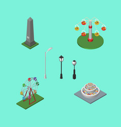 Isometric urban set of swing attraction vector