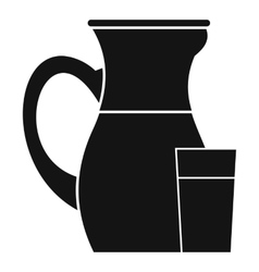 Jug of milk icon simple style vector
