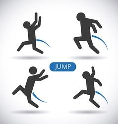 jump design vector image