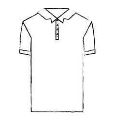 monochrome blurred silhouette of polo shirt short vector image vector image