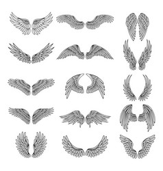 monochrome set of different stylized vector image