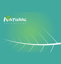 natural design template vector image