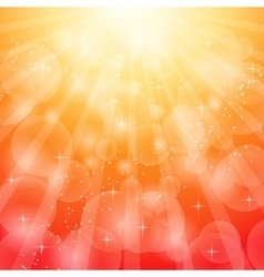 Red bright background with rays vector image vector image