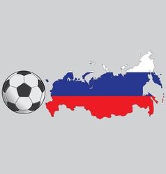 Russia football vector