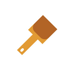 Shovel icon on isolated background vector