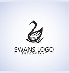 swans logo ideas design vector image vector image