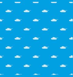 tank pattern seamless blue vector image