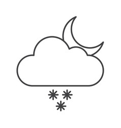thin line snow rain icon vector image