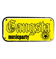 gangsta stamp vector image