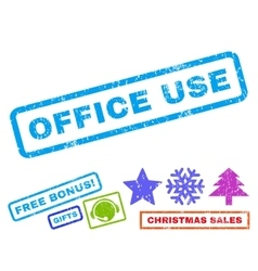 Office use rubber stamp vector