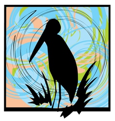 Pelican Silhouette vector image