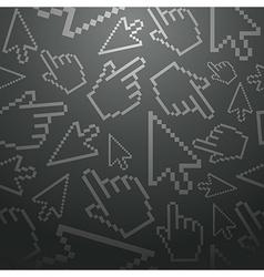 Pixel cursors seamless pattern vector image