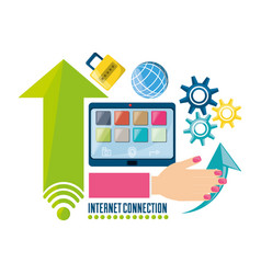set icon related with internet vector image