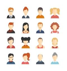 Avatar Icons Set vector image