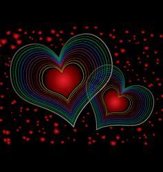 seventies love duel vector image