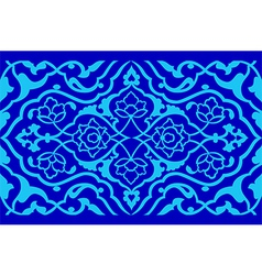 Blue artistic ottoman pattern series fifty six vector