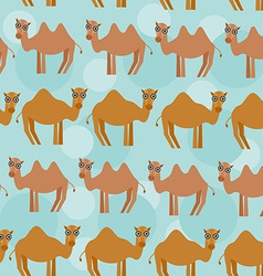 Funny camel Seamless pattern with cute animal on a vector image